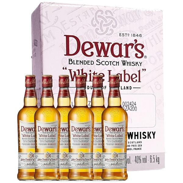 Dewars-white-label-caja-de-6-botellas-70-cl