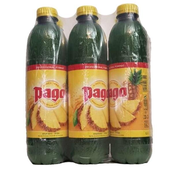 Pack de 6 Botellas Zumo Pago de Piña 1L