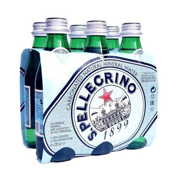 Pack 6 botellas Agua San Pellegrino 25 cl