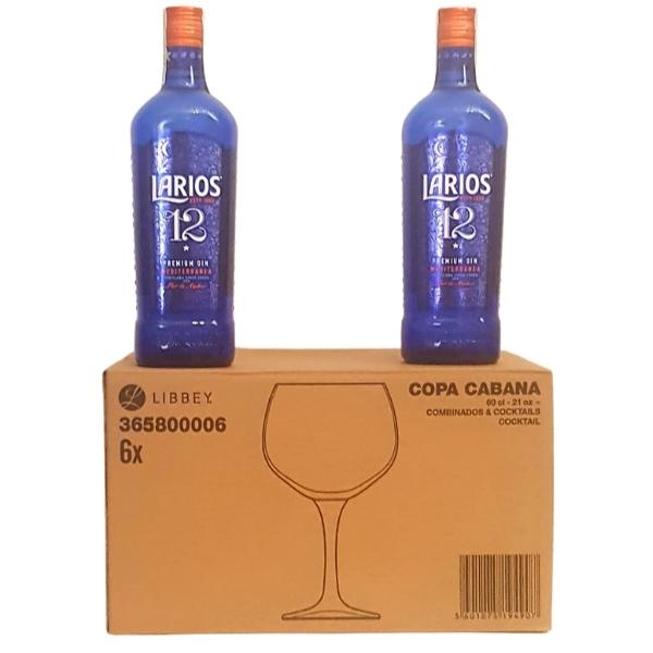 Promocion_Ginebra_2_botellas_Larios_12_6_Copas