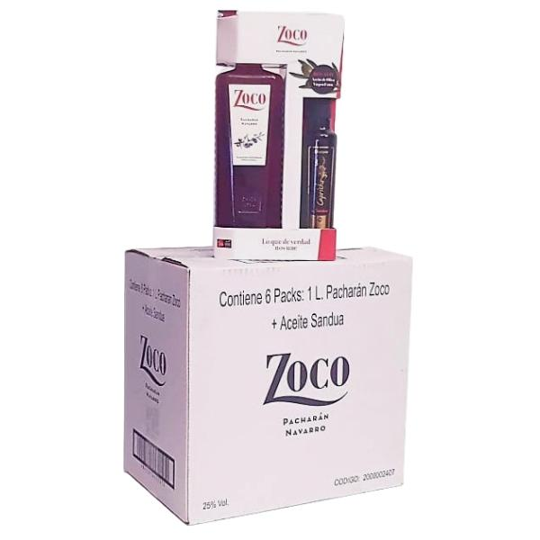 Botella_Pacharan_Zoco_1L_Botella_Aceite_Sandua_250_ML_Caja_De_6_Pack