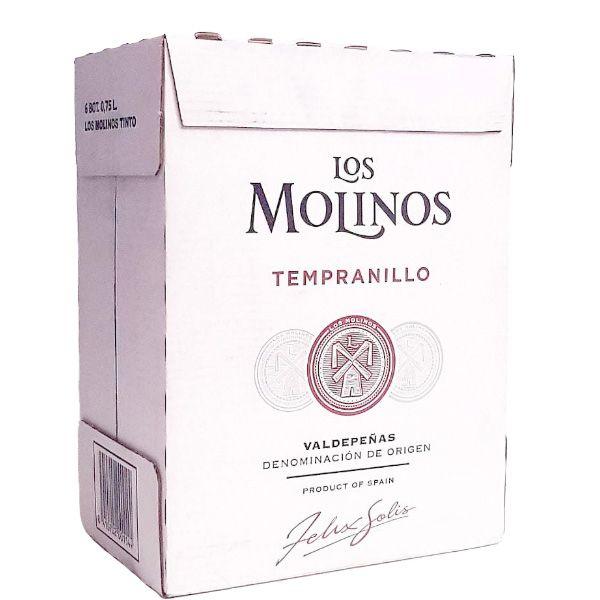 Caja-de-6-Botellas-de-vino-tinto-temparnillo-los-molinos-Valdepenas